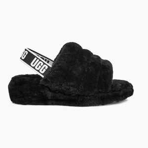 AUTHENTIC NWT UGG FLUFF YEAH LOGO SLIDE